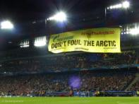Gazprom Action At Basel Football Stadium, Switzerland.