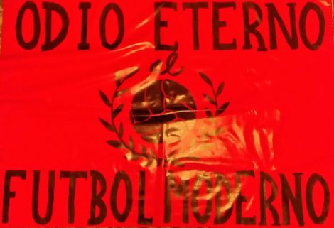 Pancarta requisada durante el Mirandés - Deportivo
