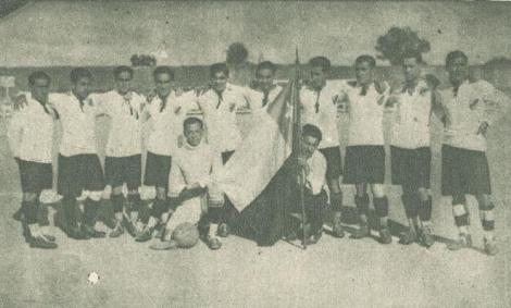 Equipo de Colo Colo que jugó contra el Real Unión de Valladolid